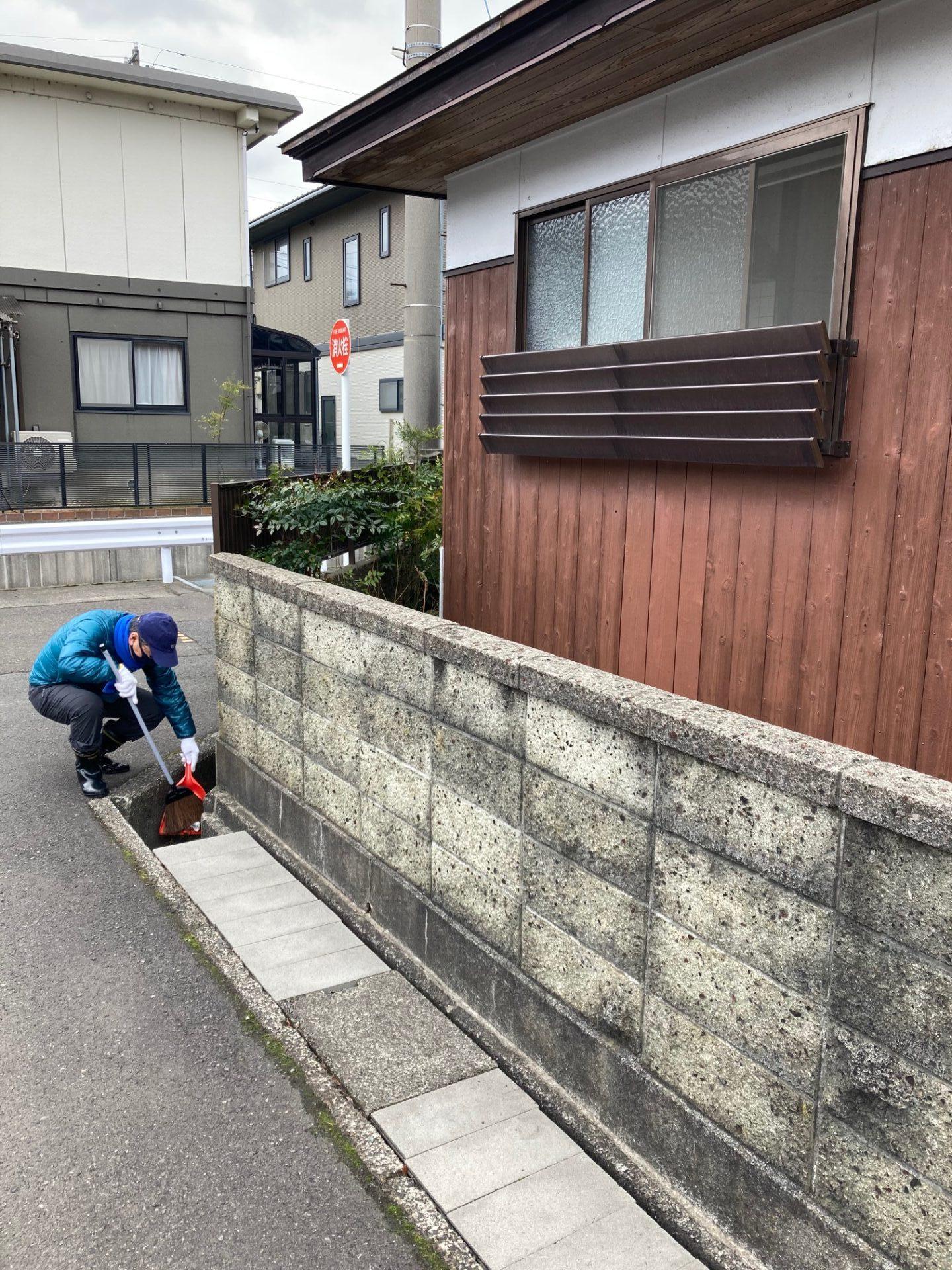 外周の清掃