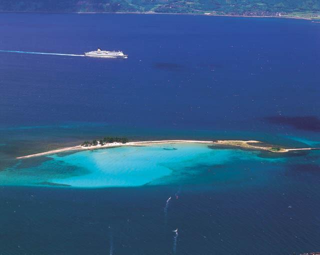 敦賀市にある「北陸のハワイ」と称される水島