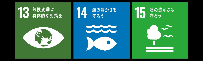 SDGsアイコン13.14.15